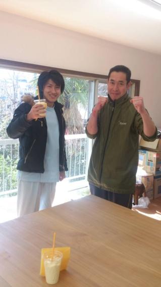 工藤さんとスムージー